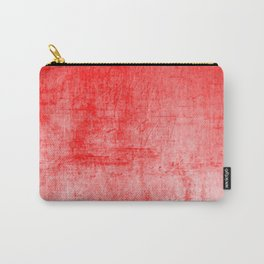Distressed Coral Textured Canvas Carry-All Pouch