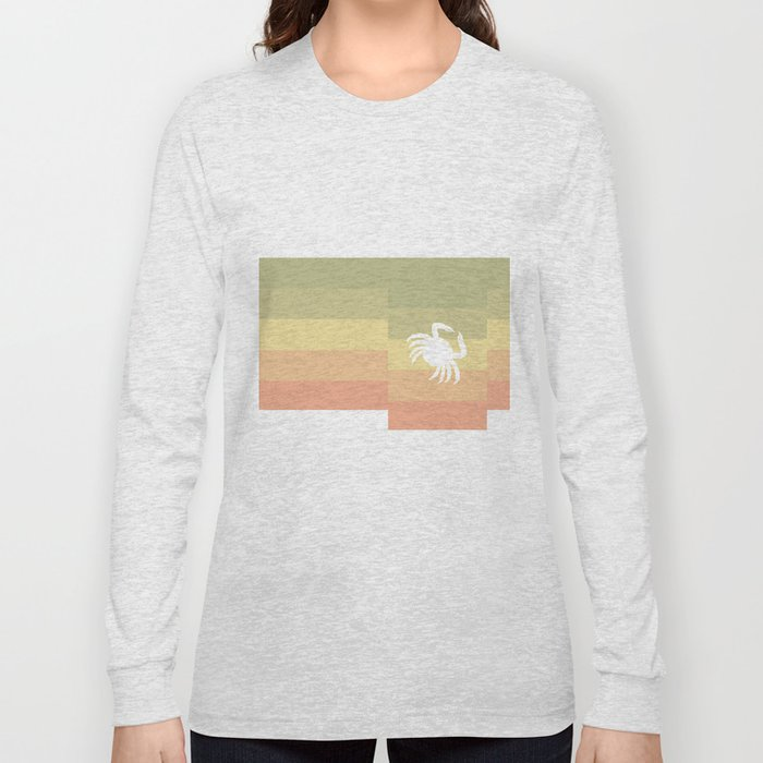 Out At Sea Series - Sideways and Crabby Long Sleeve T-shirt