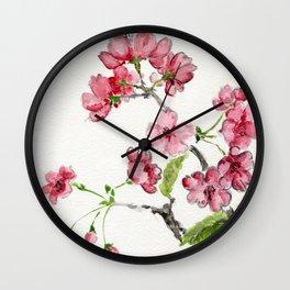 La Fleur de Malus Wall Clock