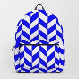 HERRINGBONE (BLUE & WHITE) Backpack
