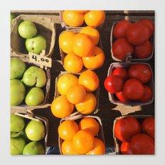 Market Tomatoes Canvas Print