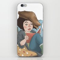reading iPhone & iPod Skins featuring Reading by Vera Johansen