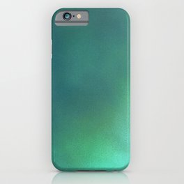 Abstract noise green iPhone Case