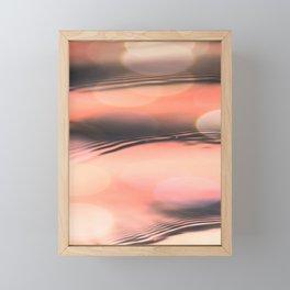 Sunset on Water Framed Mini Art Print