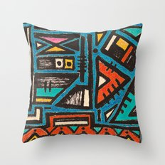 Pattern Number 7 Throw Pillow