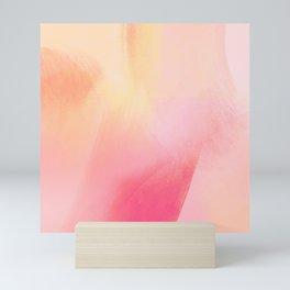 Rose petal abstract background Mini Art Print