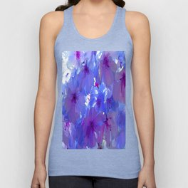 Blue Cherry Blossoms Unisex Tank Top