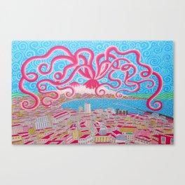 NapoliVesuvioOctopus Canvas Print