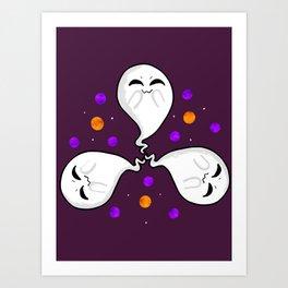 Cute Little Ghosties Art Print