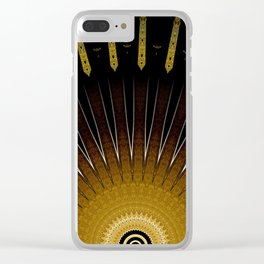 Modern Circular Abstract with Gold Mandala Clear iPhone Case