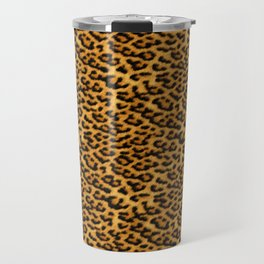 Chic Leopard Fur Fabric Travel Mug