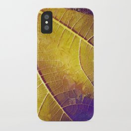 Leaf in Purple and Yellow iPhone Case