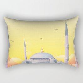 Mosque under the sun Rectangular Pillow