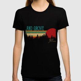 Leland Grove Retro Vintage Custom Funny 80s 90s T-shirt