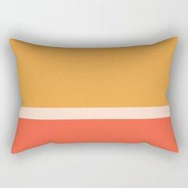 Golden Summer Color Block Rectangular Pillow