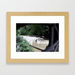 Perpetual Surfer Framed Art Print