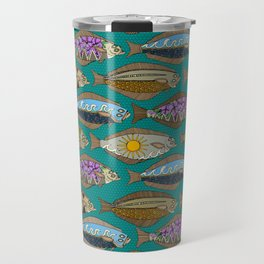 Alaskan halibut teal Travel Mug