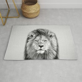 Lion 2 - Black & White Rug