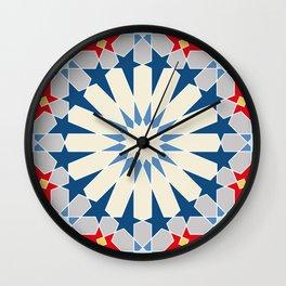 oriental mosaic tile pattern,  traditional geometric design 1 Wall Clock