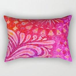 Joy in Orange and Purple Rectangular Pillow
