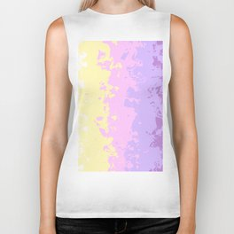 Abstract Geometric design with Unicorn Colors Biker Tank