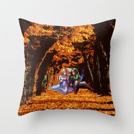 both in the forest Throw Pillow