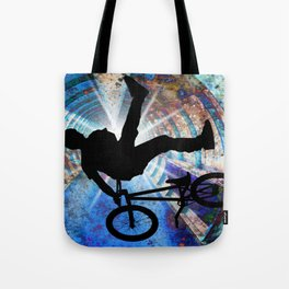 BMX in a Grunge Tunnel Tote Bag