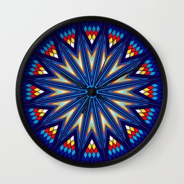 Blue Fire Keepers Wall Clock