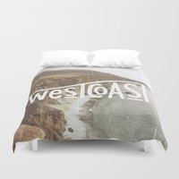 west coast Duvet Covers featuring West Coast by cabin supply co