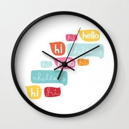 Hi Hello Wall Clock