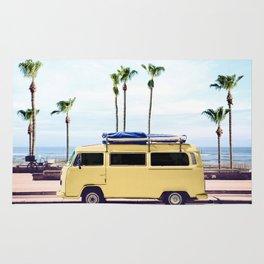 Surfer's Yellow Van Rug