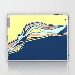 light blue & navy & banana / minimalist Laptop & iPad Skin