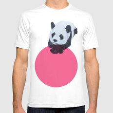 panda bear MEDIUM Mens Fitted Tee White