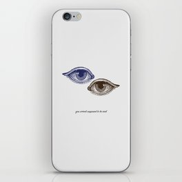 Eyes Both Brown and Blue iPhone Skin