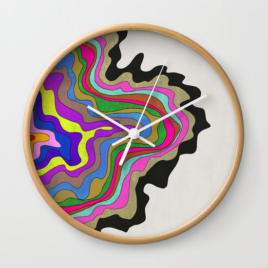 Color Wave Wall Clock
