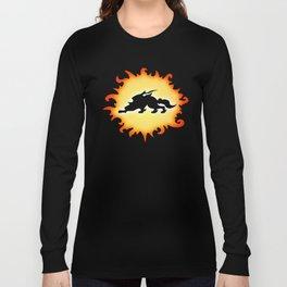 Amaterasu Logo- Black Long Sleeve T-shirt