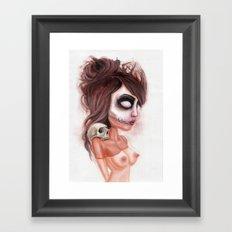 Deathlike Skull Impression Framed Art Print