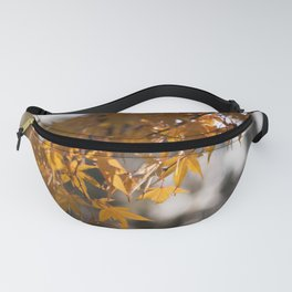 Autumnlights - Gold marple leaves at sparkling backlight Fanny Pack