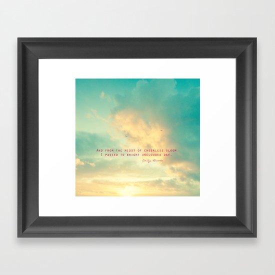 A Bright Day  Framed Art Print