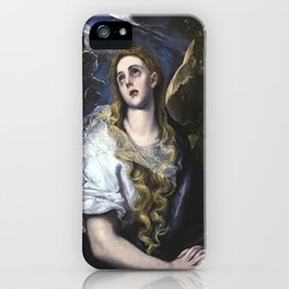El Greco -  Mary Magdalen in Penitence iPhone Case