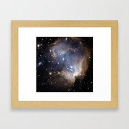 Star-forming region N90 Framed Art Print