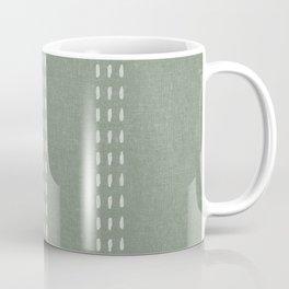 boho vertical stitch - sage Coffee Mug