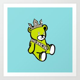 Bear King Art Print