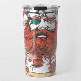 The Viking Red Rose Beard Bard Warriors Vintage Travel Mug