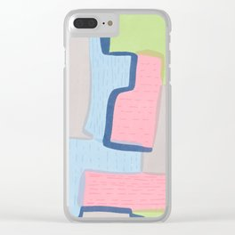 Abstract Brights Clear iPhone Case