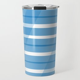 Electric Blue Slats Travel Mug