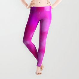 Passion Pink Valentines Abstract Leggings