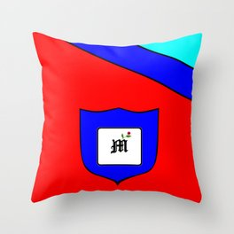 A Family Crest with a Capital Letter M, Mu Throw Pillow