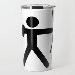Stickfigure Archer Travel Mug