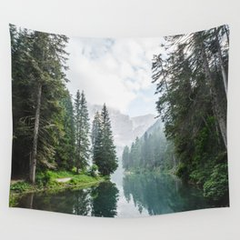 Forest Reflection in Italy Wall Tapestry